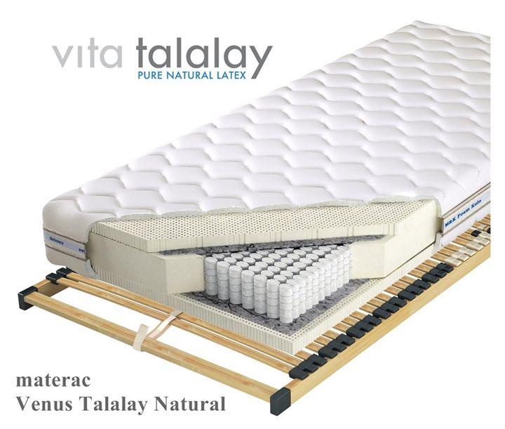 💦 Materac Venus Talalay Natural 💦 – wykonany ze sprężyn i 100% naturalnego lateksu Vita Talalay.