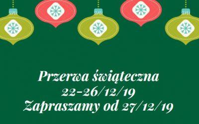 Przerwa świąteczna…